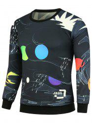 Color Block Slim Fit Graphic Sweatshirts
