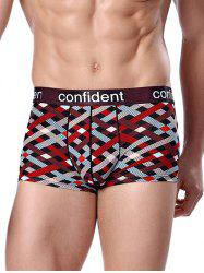 Confident Graphic Geo-Print Boxer Briefs - COLORMIX