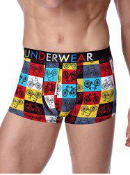 Bicycle Printed U Convex Pouch Boxer Briefs