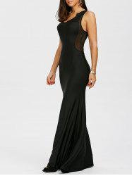 Sleeveless Floor Length Sheath Dress