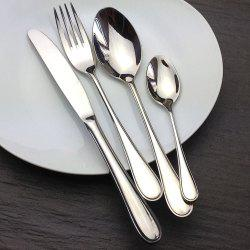 4 Pcs Stainless Steel Hotel Teaspoon Table Spoon Fork Knife Set