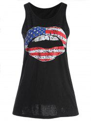 American Flag Graphic Patriotic Tank Top