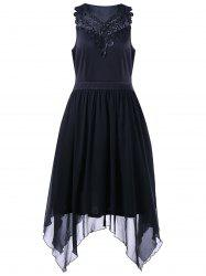 Lace Trim Plus Size Handkerchief Dress