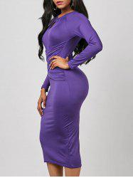 Robe Bodycon - Pourpre L
