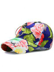 Flowers Printing Wash Painting Metal Circle Hat