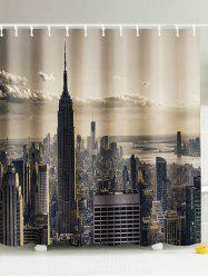 Central City Fabric Shower Curtain