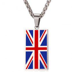 Union Jack Patriotic Pendant Necklace