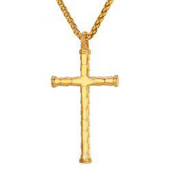 Cross Stainless Steel Pendant Necklace - GOLDEN