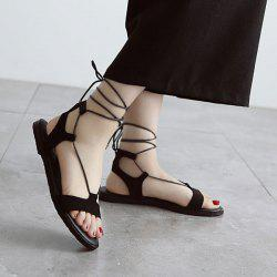 Flat Heel Tie Up Sandals