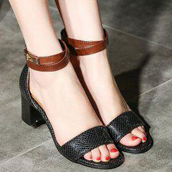 Two Tone Embossing Sandals
