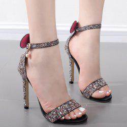 Ankle Strap Sequins Sandals