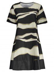 Zebra Stripe Trapeze Mini Dress