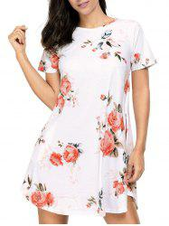 Floral Pockets T-Shirt Shift Beach Dress