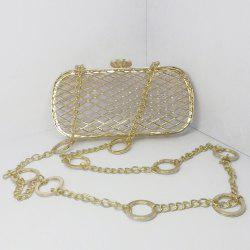 Metal Hollow Out Chain Evening Bag
