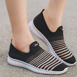 Breathable Mesh Athletic Shoes - BLACK