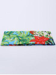 Digital Inkjet Floral Elastic Sport Headband - BLUE GREEN