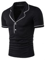 Novelty Turndown Collar Short Sleeve Polo T-Shirt