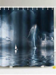 The Storm At Sea Fabric Shower Curtain