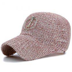 Metallic Pendant Circle Sequin Woven Baseball Hat
