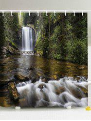 Natural Landscape Waterfall Shower Curtain