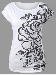 Printed Scoop Neck T-Shirt