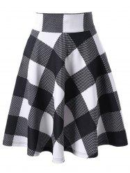 Checked High Waisted Skirt -