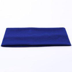 Hip-Pop Wide Plain Elastic Sport Headband - BLUE