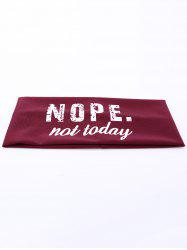 Letters Printed Athletic Elastic Wide Headband - RED