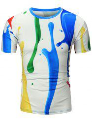 Paint Dripping Printed T-Shirt