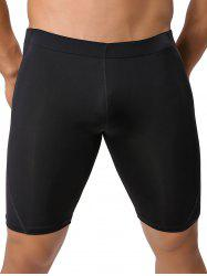 Mid-Rised Stretch Swimming Shorts
