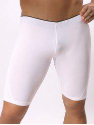 Mid-Rised Stretch Swimming Shorts - WHITE