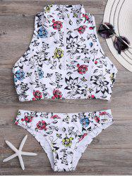 High Neck Racerback Floral Bikini Set