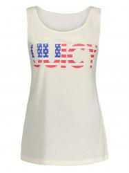 American Flag UUICY Graphic Top