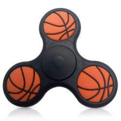 Focus Toy Basketball Pattern Triangle Fidget Finger Spinner - BLACK