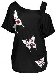 Impression Butterfly Print - Noir