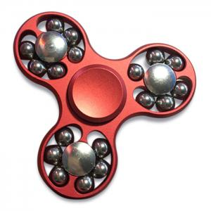 Metal Fidget Toy Hand Spinner with Rolled Beads