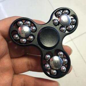 Metal Fidget Toy Hand Spinner with Rolled Beads -