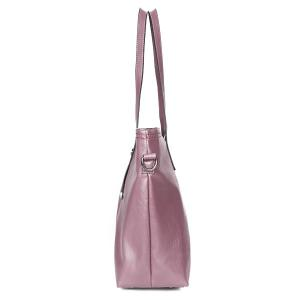 3 Pieces Faux Leather Shoulder Bag Set - PURPLE
