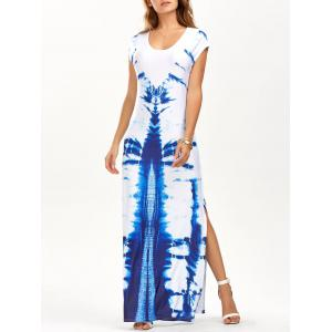 High Slit Tie Dye Tee Shirt Maxi Dress