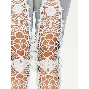 Openwork Low Waist Lace Panel Jeans -