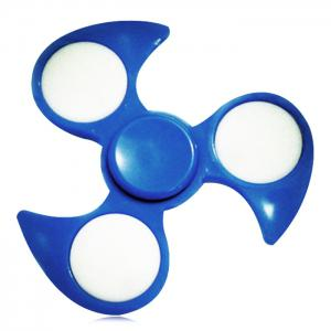 Anti-Stress Toy Fidget Spinner with Colorful Flashing LED Lights - BLUE