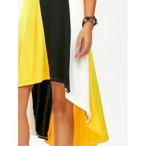 Color Block High Low Tea Length Dress -