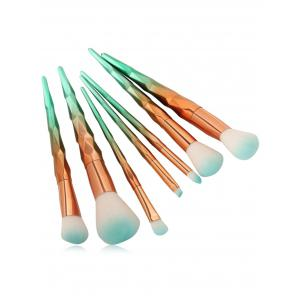 7Pcs Unicorn Conical Gradient Color Makeup Brushes Set