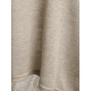 Dolman Sleeve Asymmetrical Sweater - APRICOT L
