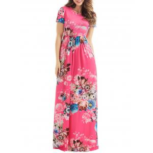 Short Sleeve Floral Maxi Dress - Tutti Frutti - Xl