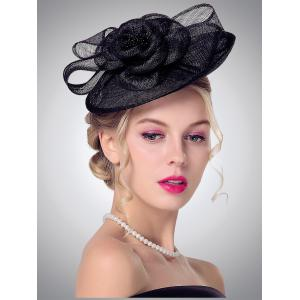Bowknot Flower Shape Cambric Cocktail Hat
