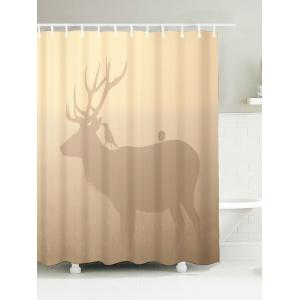 Deer Print Bathroom Waterproof Fabric Bath Curtain