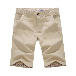 Casual Zipper Fly Pockets Shorts