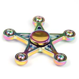 Colorful Star Hand Fidget Spinner Stress Relief Toy - COLORFUL 8*8*1.5CM