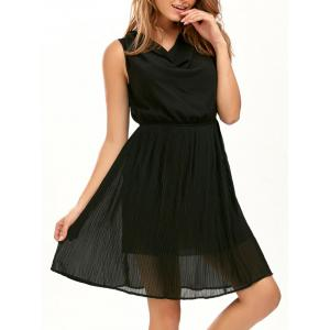 Casual Pleated Sleeveless Chiffon Flowy Dress